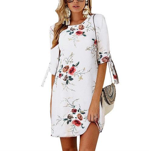 Women Summer Dress Style Beach Dress Loose Mini Party Dress Plus Size 5XL