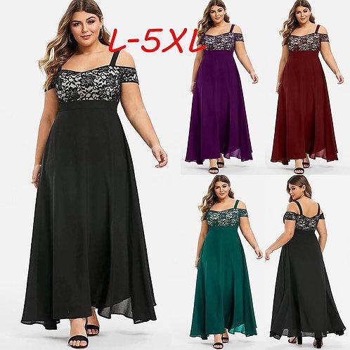 Plus Size Sexy Strap Long Dress Women's  Beach Dress Sleeveless Dresses Vestidos