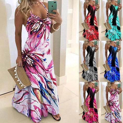 Casual Women's Fashion Strap Colorful Dress Dress Maxi Dress Plus Size S-5xl