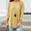 Thumbnail: Solid Black Shirt Woman Casual Cotton O Neck Tops and Blouses Irregular Women