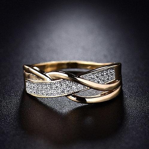 Size 6 7 8 9 10 Present Rings Women Crystal Golden 1PC Hot Sale Cross Seaside