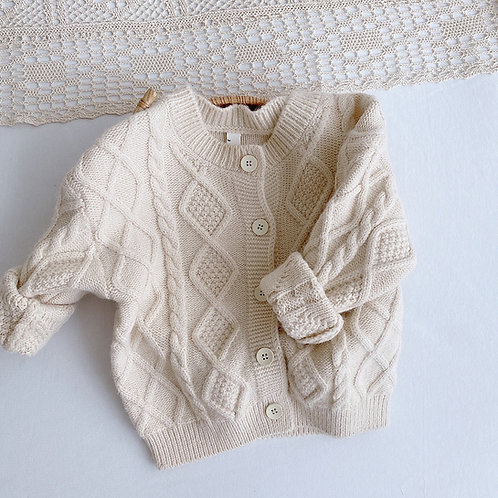 Winter Full Sleeve Solid Knitted Outwear Coat Cardigan Sweater