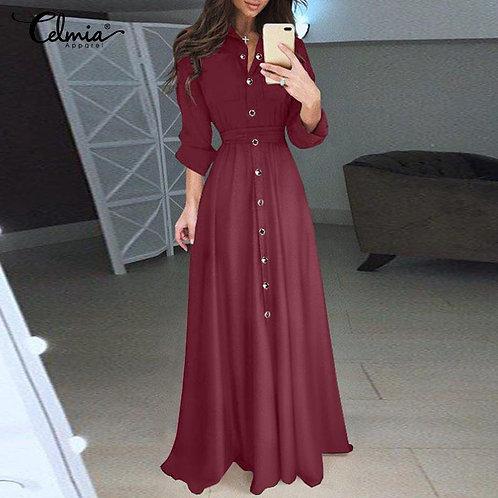 Autumn Long Shirt Dress