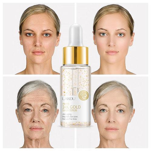 24K Gold Snail Face Serum Anti-Aging Acid Essence  Brighten Tighten Skin