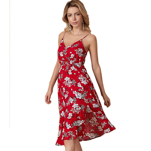 Women Strapless Long Maxi Dress Sundress Sexy Backless Red Dresses Female