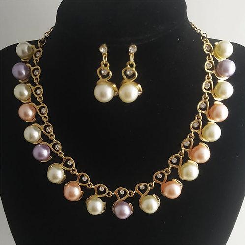 Pearl Jewelry Sets for Women Wedding Jewelry Set Crystal Rhinestone Bridal Set