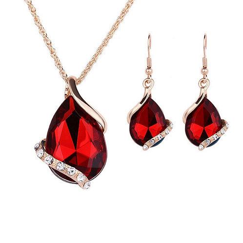Women Necklace Earrings Ring Set  Luxury Men Women DIY Jewelry Accessories