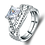 Thumbnail: White Simulant Diamond Engagement Ring 925 Sterling Silver Band Ring Jewelry