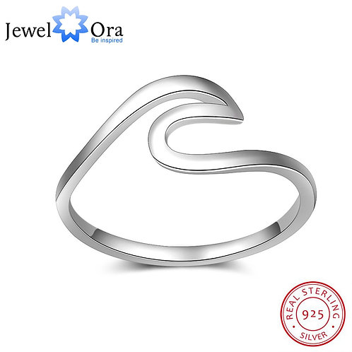 JewelOra 925 Sterling Finger Ring Wedding Bands Fine Jewelry Accessories