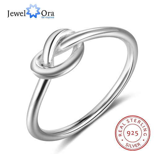 Genuine 925 Sterling Silver Knot Finger Jewelry Birthday Gift for Best Friend