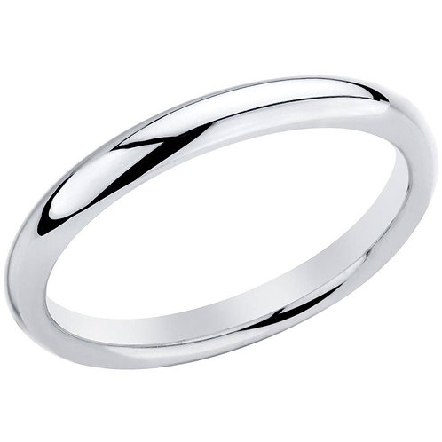 Sterling Silver 3.5mm Polished Plain SL Band, Available in 8 Sizes