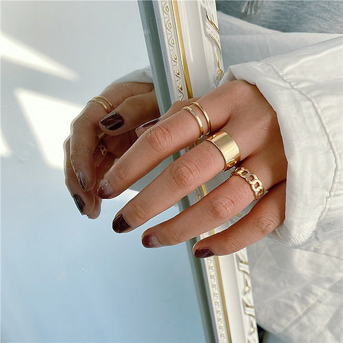 Finger Rings Set for Women Circle Open Ring Joint Ring Female Jewelry