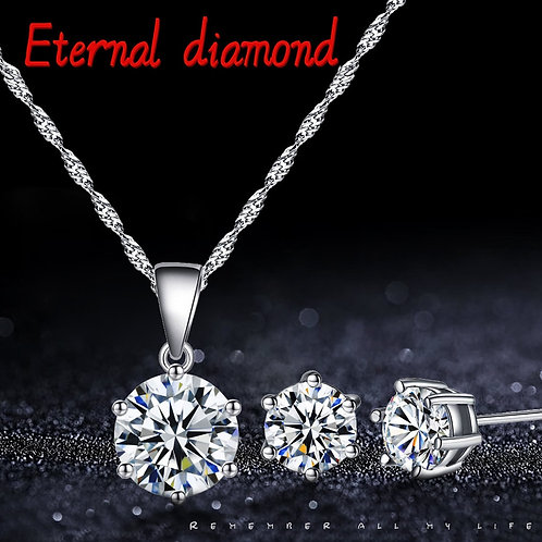 Exquisite and Elegant Necklace for Women  Jewelry Ear Stud Set