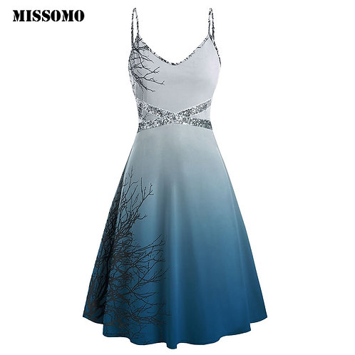 Plus Size Dress Women Print Sleeveless Mini Woman Party Night Vestidos 95