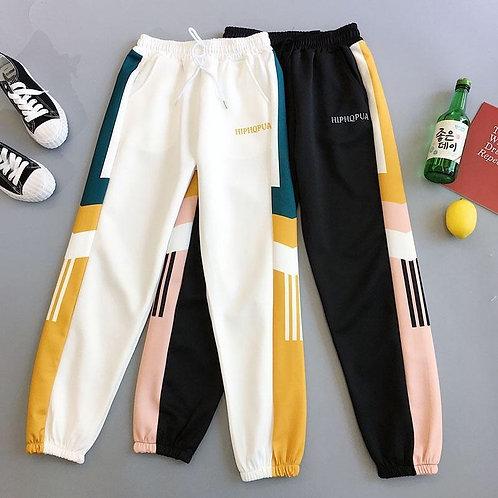 Women Casual Trousers Black Loose Streetwear Trousers Plus Size Sport Pants 5XL