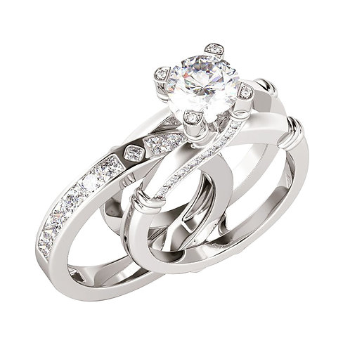 2 in 1 Creative Ring Set and Versatile Fashion Ring Wedding Ring Valentine's Day