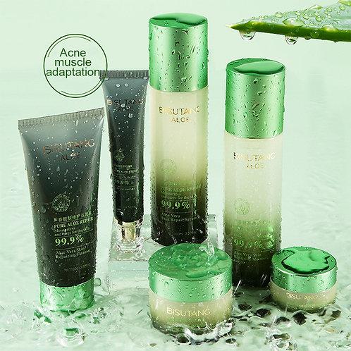 6pcs Skin Care Set Pure Aloe Vera  Facial Kit Oil Aloe Private Skincare Set