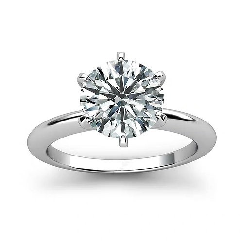 925 Sterling Silver Ring 1ct 2ct 3ct Classic Style Diamond Moissanite  for Women