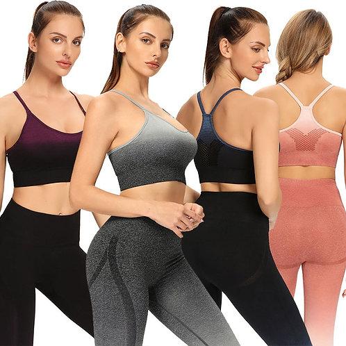 Two Piece Set Sports Bra+pants Sport Women Seamless Workout Clothes for Gym