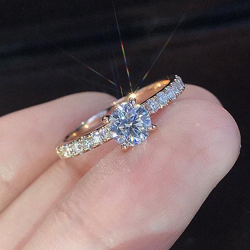 Crystal AAA White Zircon Cubic Elegant Ring