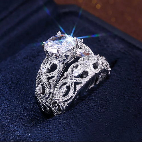 2 piece combination love ring