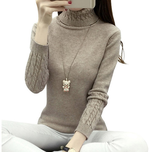 Thick Warm Women Women Sweaters and Pullovers Knit Long Cashmere Sweater Female