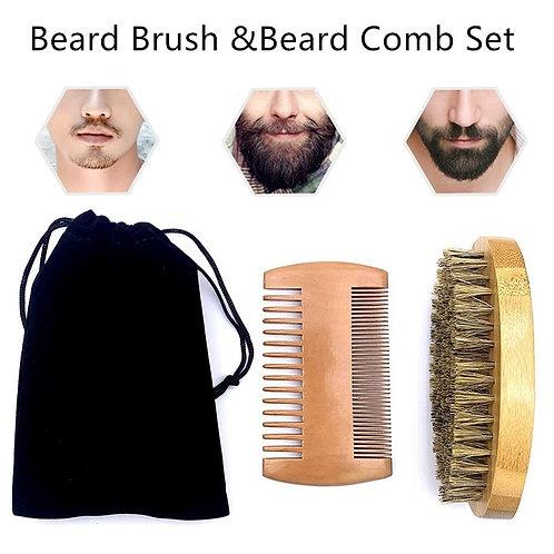 Natural Beard Comb Set Double Beard Tool Set Professional