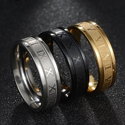 Fashion 6mm Width Stainless Steel Rings for Men Jewelry Gift