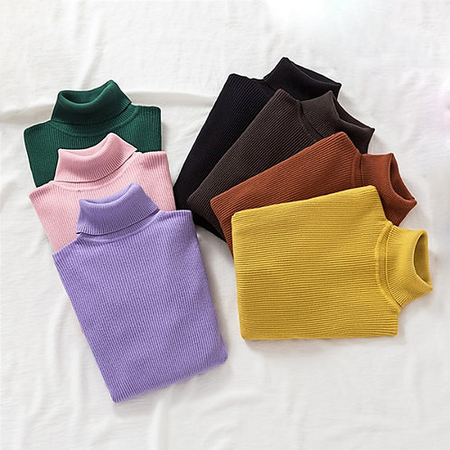 Pullovers Women Turtleneck Sweaters Fashion Spring Long Sleeve Female Jumper