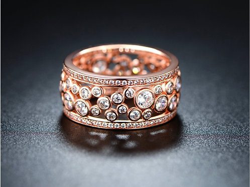 Rose-Gold Plating Cubic Zirconia Band