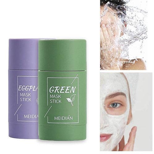 Green Tea Oil Control Face Mask Clay Stick Skin Care Remove Blackhead Mask TSLM1
