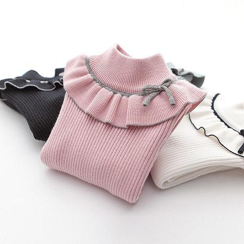 Sweaters Turtlrneck Girls Sweater 2-12 Years Children Clothing Sweaters