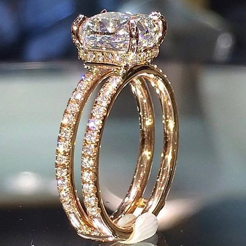 Double-Layer Princess Ring