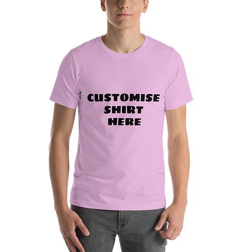 Short-Sleeve Unisex T-Shirt CUSTOMISE  YOUR OWN