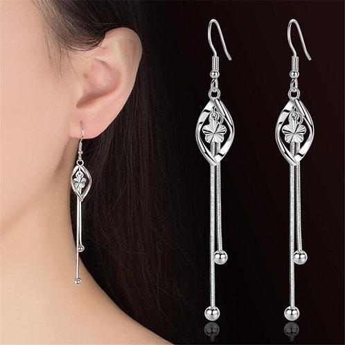 925 Sterling Silver New  Ear Original Exaggerated Tassel Earrings Jewelry