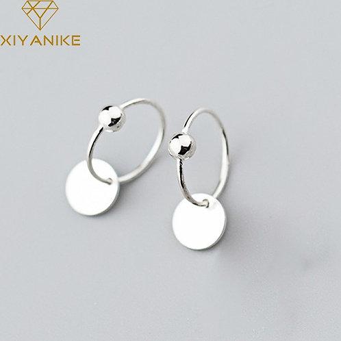 925 Sterling Silver Geometric Earrings for Women Simple Wedding Jewelry
