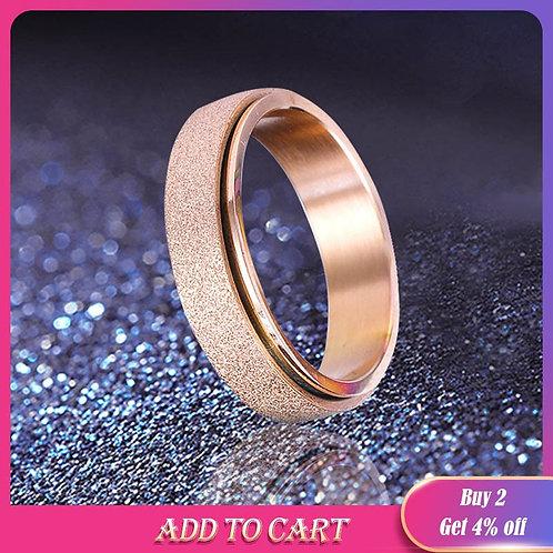 Stainless Steel Spinner Ring Sand Size Ring Steel Ring for Men Rings #20