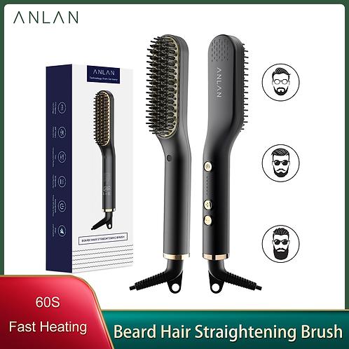 Hair Hot Heated Comb Men Beard Straightener Ceramic Comb Quick Hair Styler