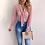 Thumbnail: Women New Fashion Elegant  Long Sleeve V-Neck  Blouse Female Polka Dot Top