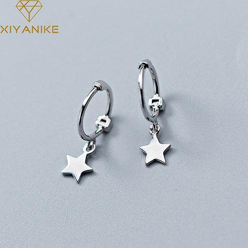 925 Sterling Silver Trendy Elegant Drop for Women Geometric Pendant Jewelry