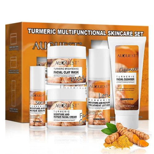Turmeric Facial Care Set Deep and Facial Cleanser Oil Control Shrink Pores Face