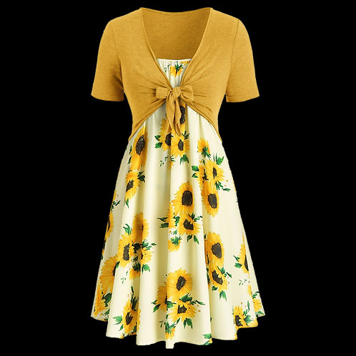 Sunflower Mini Dress Summer