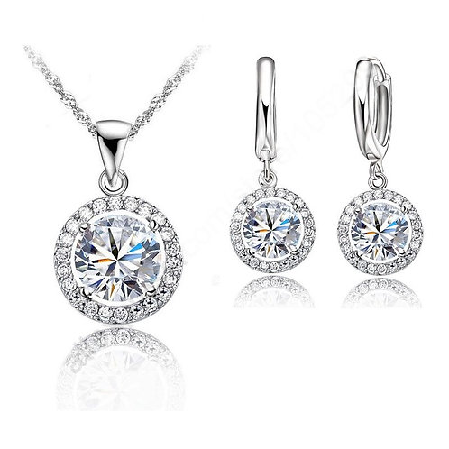Top Quality Popular Bridal Ornaments Beautiful Necklace + Earring Jewelry Sets