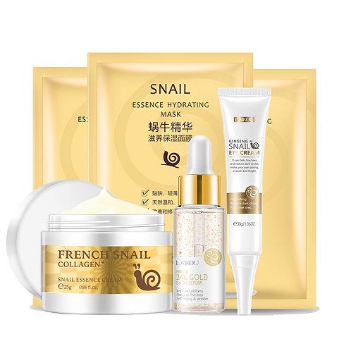 Face Skin Care Set Face Cream&Eye Cream&Face Serum & Facial Mask Beauty Set