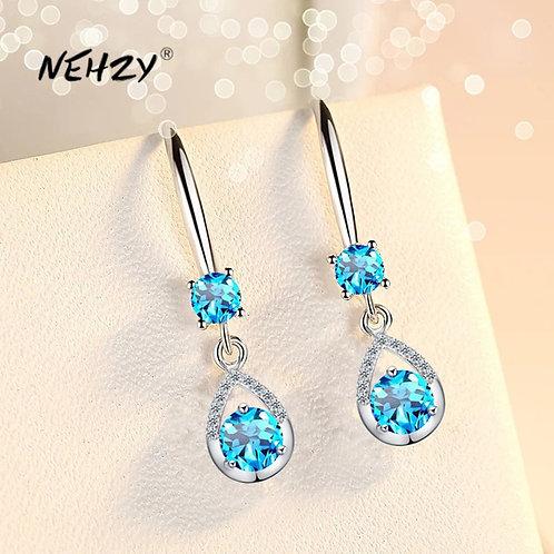 925 Sterling Silver New Woman Fashion Jewelry Long Tassel Earrings