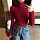 Thumbnail: Knitted Ribbed Pullover Sweater Long Sleeve Slim Jumper Soft Warm Pull Femme