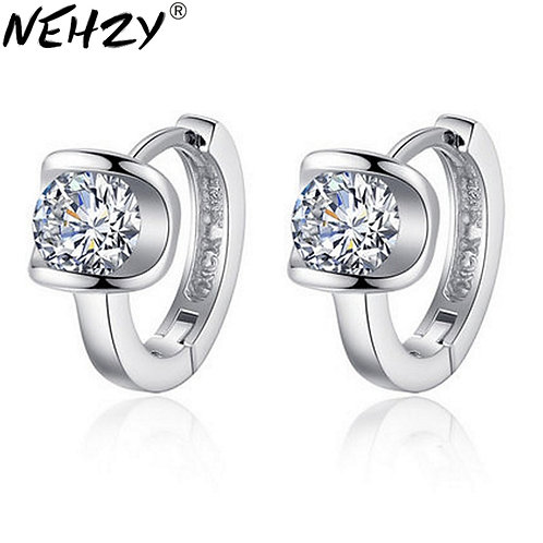 NEHZY Silver of Fashion Heart-Shaped Jewelry Gift Cute Earrings High Quality