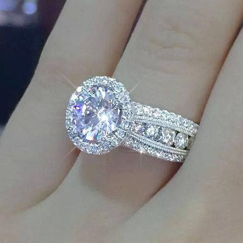 Classic Starry Inlaid Large Zirconium Diamond Ring