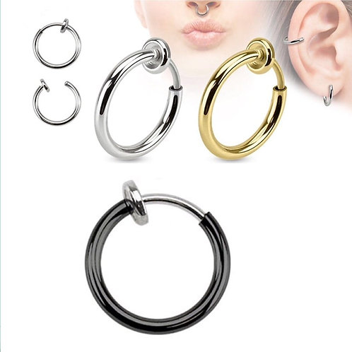 Sale 2pcs Invisible No Ear Hole Earrings Ring for Punk Wind Jewelry Accessories