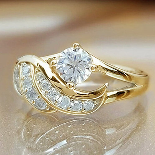 Ring Women's Ring Fashion Metal Crystal Engagement Wedding Ring Jewelry